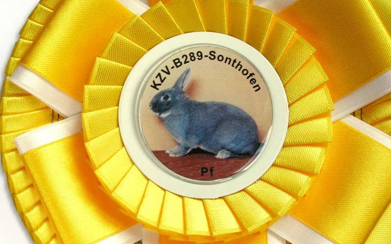 Preisschleife für Kleintierschauen