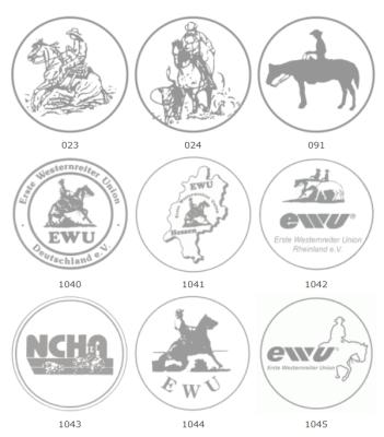 Westernmotive für Pferdeschleifen